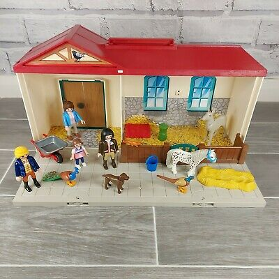 £20 • Buy Playmobil Country Take Along Farm Carry Foldaway Horse Stable Figures Donkey