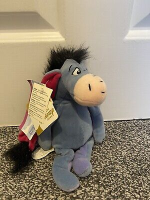 £9.99 • Buy Disney Store Eeyore Winnie The Pooh Beanie Plush Soft Toy New With Tags