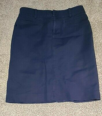 £15.99 • Buy Ralph Lauren US 8 Navy Chino Skirt With Pockets Lovely Condition