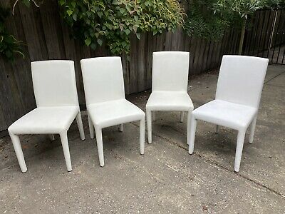 AU40 • Buy X4 Matching White Leather Look Dining Chairs