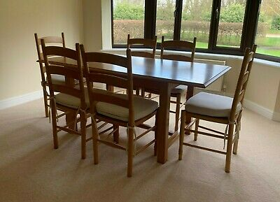 £200 • Buy Marks And Spencer Lichfield Oak Table And 6 Chairs