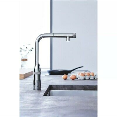 £102 • Buy Grohe Chrome Single Lever Smart Control Pull Out Spray Kitchen Tap