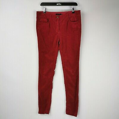 £17.99 • Buy Tommy Hilfiger Ladies Red Corduroy Low Rise Stretch Skinny Jeans - Size 8