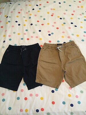 £10 • Buy Next Chino Shorts X 2, Colour Navy & Beige, Size 12 Years, Immaculate Condition