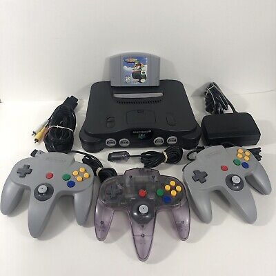 AU213.02 • Buy Nintendo 64 N64 Console Bundle With 3x Original Controllers Cables & Game TESTED