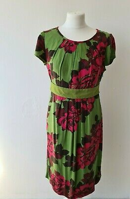 AU23.89 • Buy Boden Size 10 Green Floral Dress Below The Knee