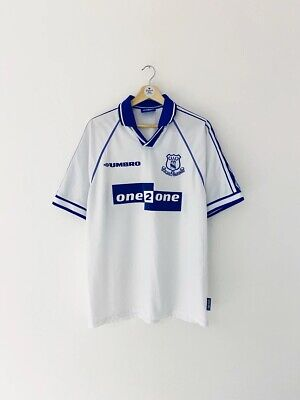 £19.99 • Buy Official Everton FC Retro Vintage 98/99 Away Shirt - MATERAZZI 15 - LARGE
