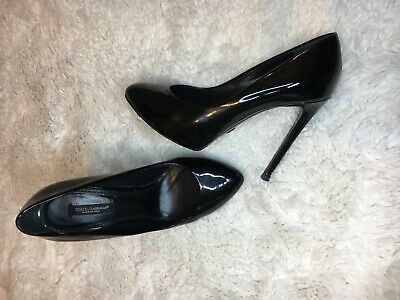 £59.99 • Buy Dolce & Gabbana D&g Lack Patent Leather Very High Heels Pumps Shoes Uk 4 / 37