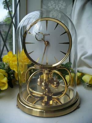 £17.66 • Buy SUPERB VINTAGE KUNDO 400 DAY ANNIVERSARY CLOCK + GLASS DOME FULLY WORKING C1960
