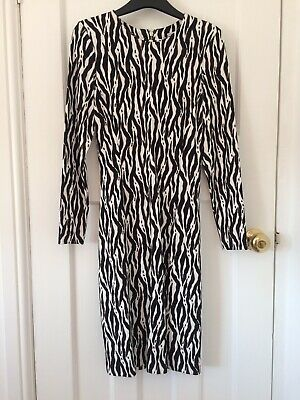 £8 • Buy Stunning Animal Print H And M Dress  Size S 10/12 Brand New With Tags