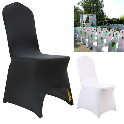 £11.99 • Buy 50/100pcs Flat Arched Front Covers Slip Spandex Chair Cover Wedding Party Decor