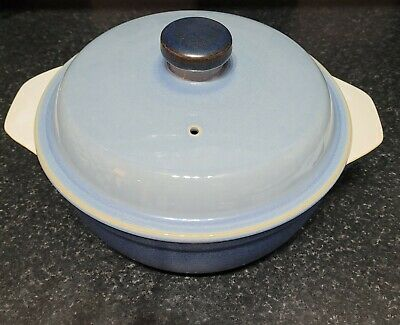 £17.50 • Buy Denby, Casserole Dish With Lid (Large). Blue Jetty Range. 2 Available