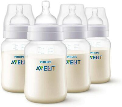 AU20.99 • Buy Philips Avent Anti-Colic Baby Bottles, 260ml | 4-Pack |SCF813/47 | FAST SHIPPING