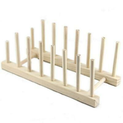 £4.78 • Buy Wooden Plate Rack Wood Stand Display Holder Lids Holds 7 New Heavy Duty