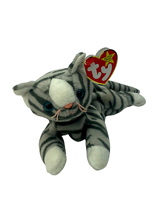 £3.99 • Buy Ty Beanie Babies  - Prance The Silver Tabby Cat