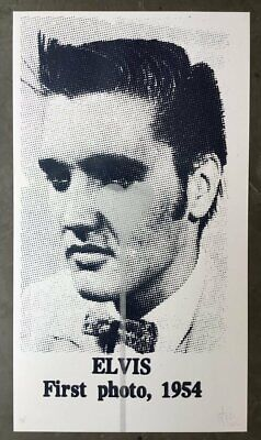 £200 • Buy Pure Evil - Elvis First Photo, 1954 (Silver Heart) - Signed Screenprint