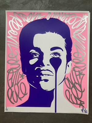 £600 • Buy Pure Evil - Cosmic Party - Pink Prince Print (PPP) - 1/1 - Signed Screenprint