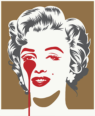 £200 • Buy Pure Evil - Marilyn Classic (Gold And Grey) Print - Signed Screenprint
