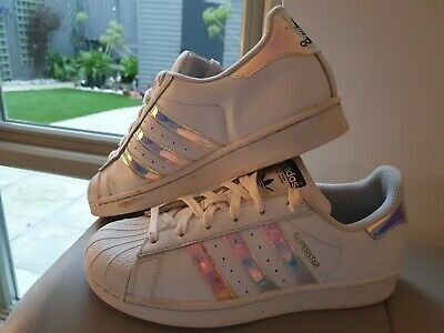 AU10.05 • Buy ADIDAS Originals Superstar  Women's White Leather Trainers Shoes Size UK4.5