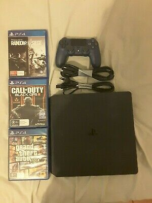 AU275 • Buy Sony PlayStation 4 Slim 500GB Black Console With 3 Games And Controller