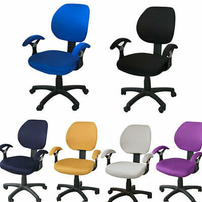 AU20.28 • Buy New Swivel Chair & Armrest Cover Set Pure Color Office Seat Protective Slipcover