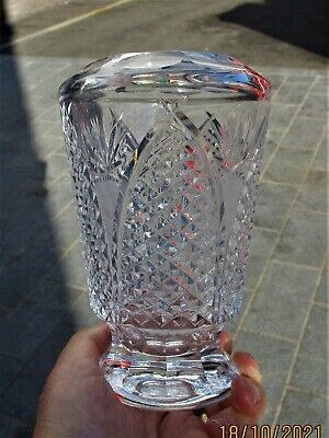 £4.95 • Buy Waterford Crystal Modified  Dunmore  Vase - Exceptionally Well Cut - Relisted