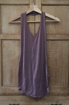 £2 • Buy Pretty Little Thing Vest Top Uk 8 🌀 Code232  Taupe Mauve Halter Neck Jersey