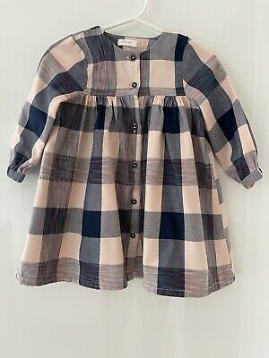 £3.50 • Buy Next Baby Girl Check Button Up Shirt Dress Size 9-12 Months