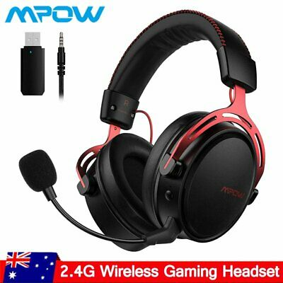 AU83.99 • Buy Air Wireless Gaming Headset W/Mic Stereo Bass Headphones For Laptop PC PS4