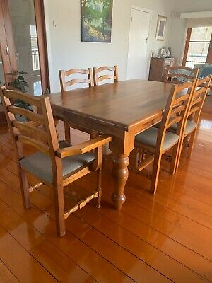 AU150 • Buy Solid 6 Seater Dining Table And Chairs