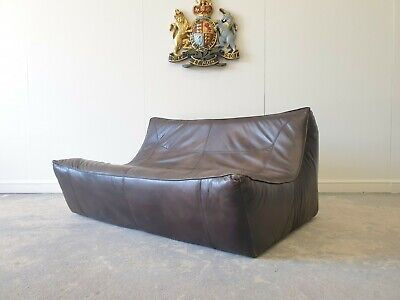 £899 • Buy 19.superb Sectional Timothy Oulton Halo Brown Leather Two Seater Sofa 🚚 🇬🇧