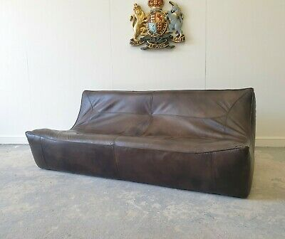 £999 • Buy 20. Superb Sectional Timothy Oulton Halo Brown Three Seater Leather Sofa 🇬🇧