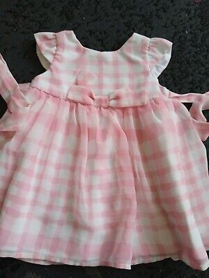£1.30 • Buy Baby Girls Pink Check Party Dress 0-3 Months