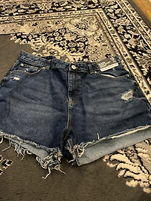 £1.90 • Buy New High Waiat Denim Shorts Size 18 With Tags