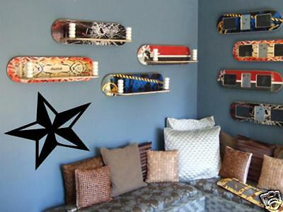 Nautical Star Wall Art Vinyl Decal Skate Rock Bedroom • 10.05£