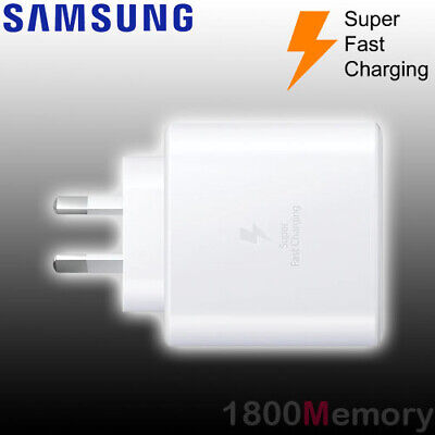 AU79 • Buy GENUINE Samsung 45W PD USB-C Super Fast Charge 2.0 AC Wall Charger With 1m Cable