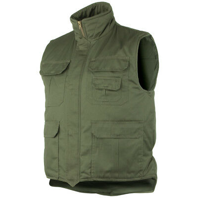Army Body Warmer Padded Mens Vest Fishing Jacket Hunting Gilet Olive Green M-6XL • 29.95£