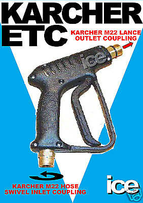 Commercial Jet Wash Pressure Washer Steam Cleaner M22m Inlet Swivel Trigger Gun • 59.99£