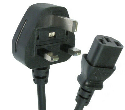 £6.79 • Buy 5m Kettle Lead Power Long IEC Cable 3 Pin UK Plug PC Monitor TV C13 Cord Metre