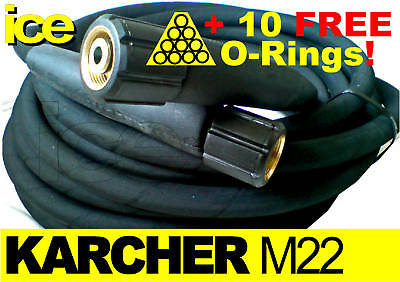 10m 210Bar KARCHER COMMERCIAL HDS REPLACEMENT PRESSURE WASHER HOSE M22F X M22F • 49.99£