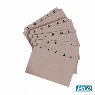 £2.95 • Buy GUIDE RECORD INDEX CARDS A-Z Divider 8 X 5 Inch 207 X 127 Mm Q Connect BY SMCO