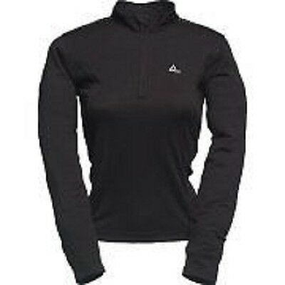 Women's Dare2b Thermal Zip Neck Black Base Layer Top. • 12.49£