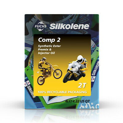 Silkolene Comp 2 Semi Synthetic Ester Based 2T Bike Engine - 4 Litres Cube • 43.49£