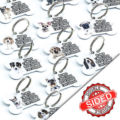 Pet Tags Breed Pet ID Tag Dog Name Identity Tags Disc For Collar Engraved FREE • 3.99£
