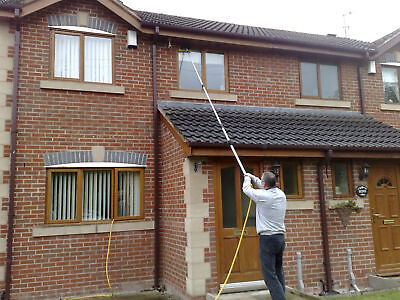13ft Water Fed Window Cleaning Pole Cleaner Telescopic Extended Extension Brush • 53.99£