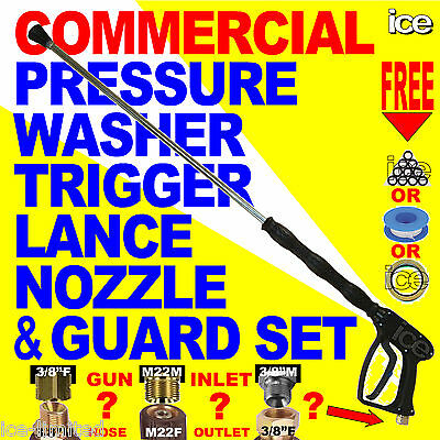 Commercial Pressure Washer Jetwash Replacement Trigger Gun Lance Nozzle Assembly • 39.99£