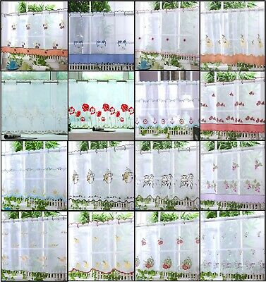 £6.99 • Buy VOILE CAFE NET CURTAIN PANEL Great Designs 12  18  & 24  Drops  FREE POST