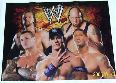 New ~wwe Wrestling~ 1-plastic Table Cover  78 1/2  X 59  Quela  Party Supplies • 3.79£