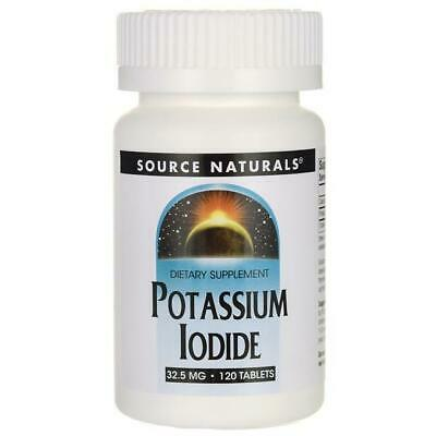 Potassium Iodide Iodine 32.5mg 120 Tablets Supports Underactive Thyroid Function • 22.50£
