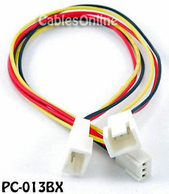 $7.99 • Buy 3-Pin Female To 2x 3-Pin Male Connectors Power Cable
